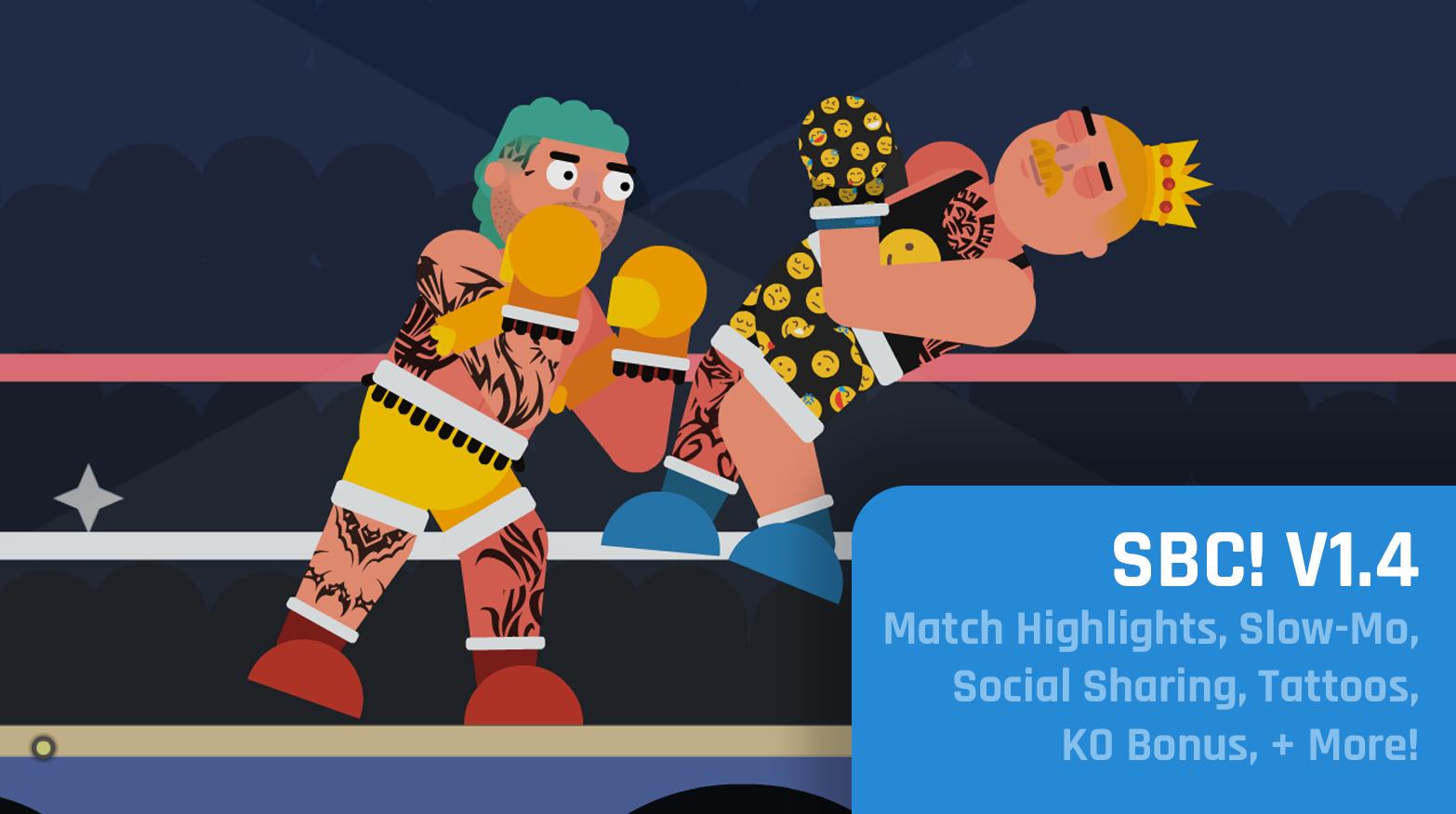 You are currently viewing Match Highlights, Slow-Mo, Social Sharing, Tattoos, KO Bonus, + More! – Super Boxing Championship! v1.4 Dev Notes